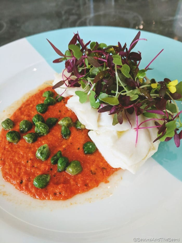 Breakfast at Tiffanys Blue Box Cafe Beauty and the Beets poached halibut