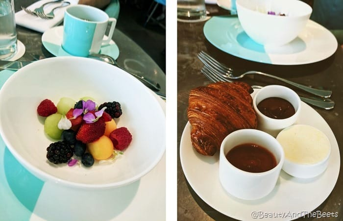 Fruit and Croissants Breakfast at Tiffanys Blue Box Cafe Beauty and the Beets