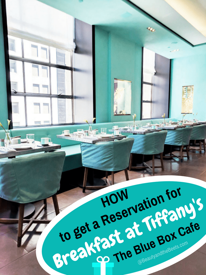 Blue Box Cafe Reservations - a dining room with Tiffany blue walls, large sunny windows, and Tiffany blue chairs