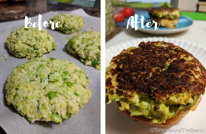 Brussels Sprouts Burgers Beauty and the Beets before after