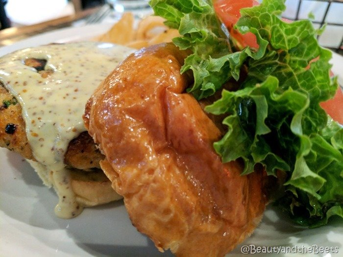 Winnies Manayunk Beauty and the Beets salmon burger