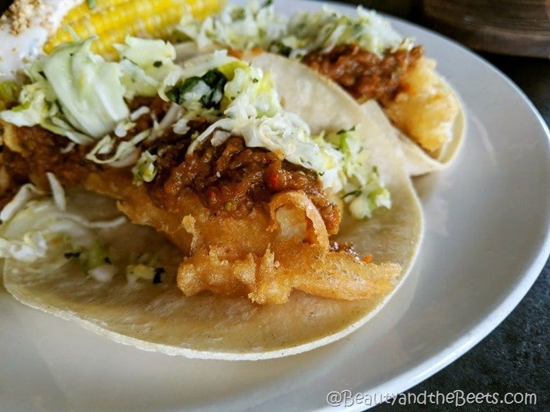 Arnie's Barn Dos Equis Cod Tacos Beauty and the Beets
