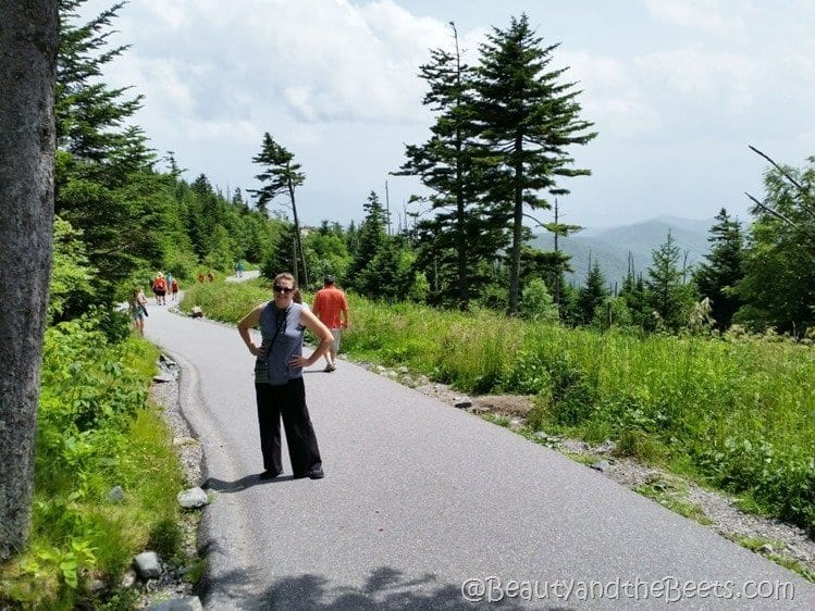 Clingmans Dome pathway Beauty and the Beets