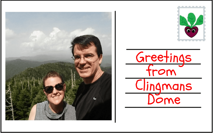 Clingmans Dome postcard Beauty and the Beets