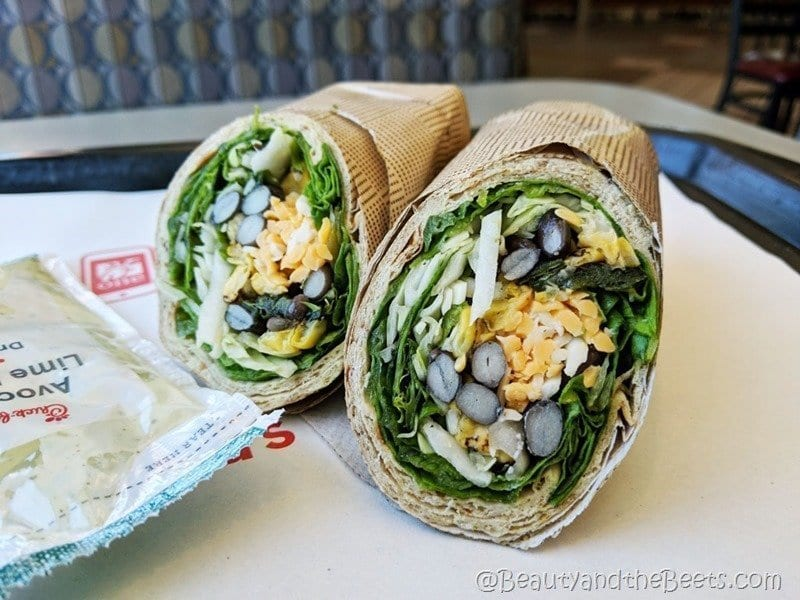 Chick-fil-A Vegetarian Wrap Beauty and the Beets