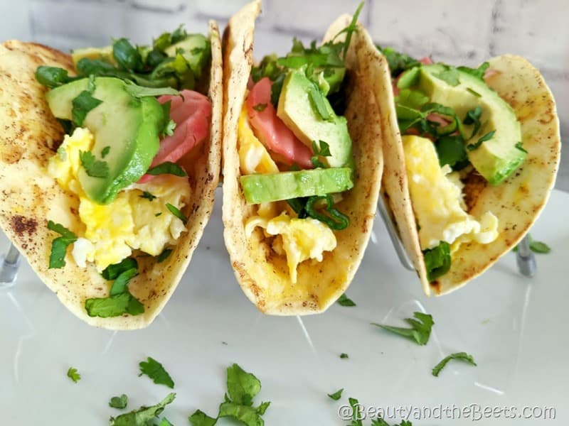 Breakfast Tacos trio Beauty and the Beets