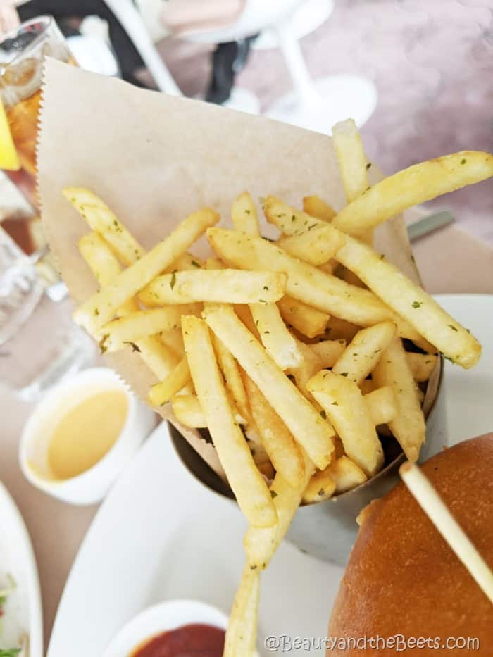 french fries Paris Cafe TWA Hotel Beauty and the Beets
