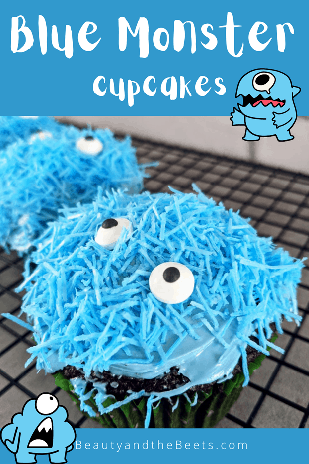 Blue Monster Cupcakes Beauty and the Beets