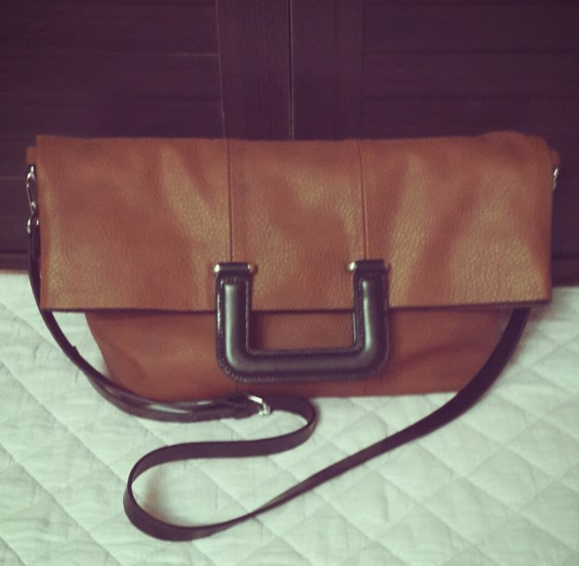 Zara Shopper Bag With Square Handle