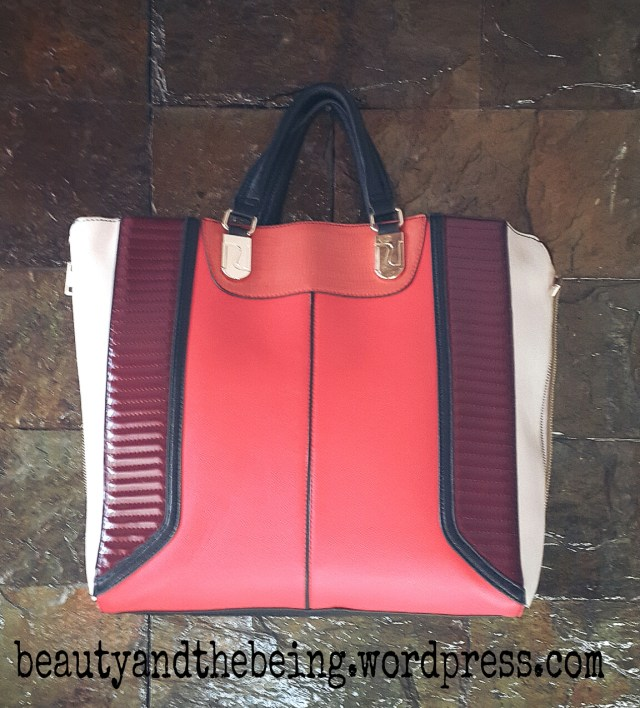 river island red bag
