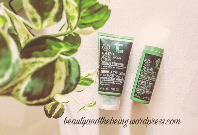 The Body Shop TEA TREE SKIN CLEARING LOTION & TEA TREE BLEMISH FADE NIGHT LOTION