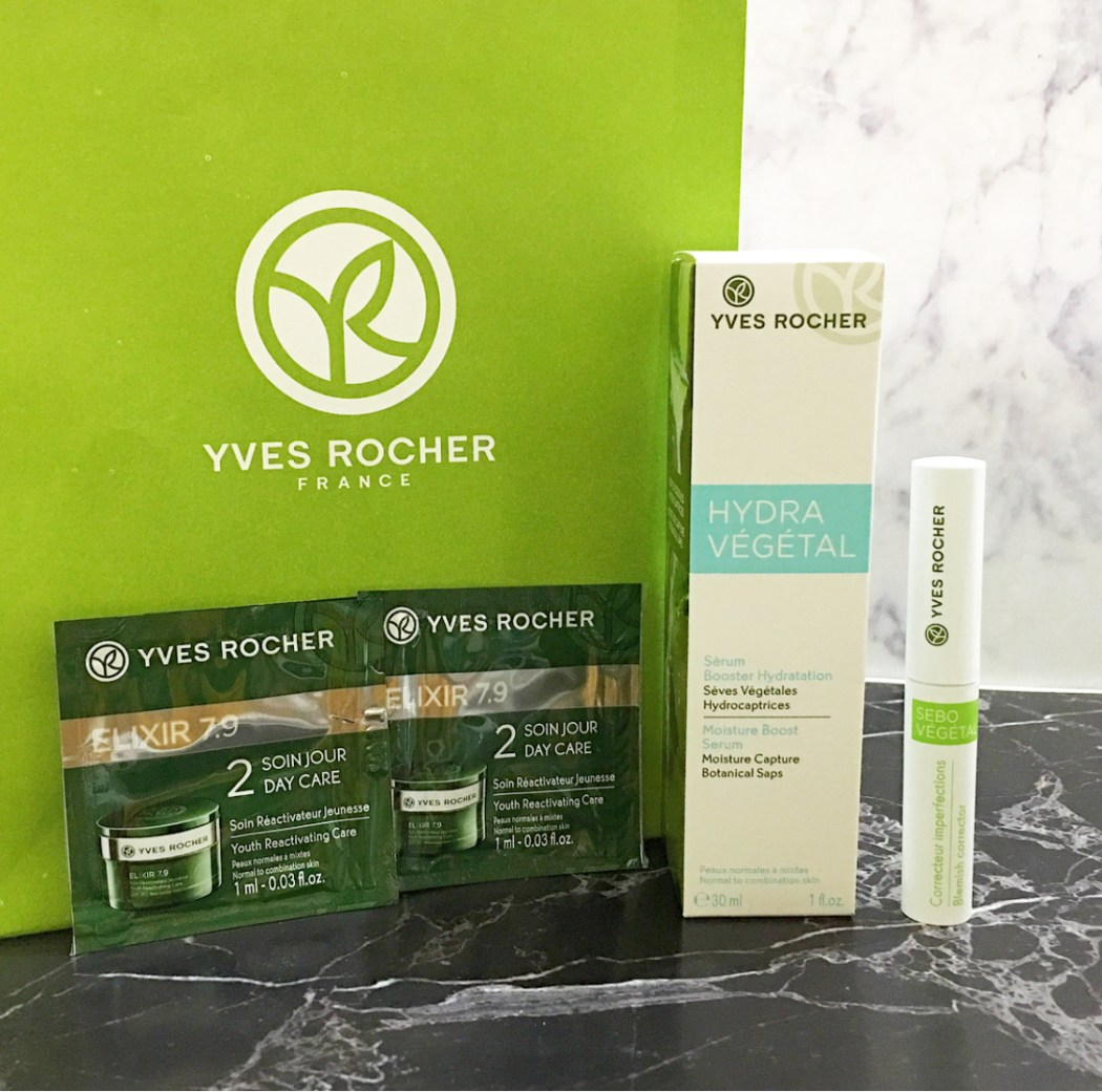 Yves Rocher Skin Care – Hydra Vegetal Moisture Boost Serum and Blemish Corrector