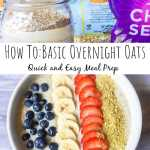ingredients for overnight oats in a mason jar