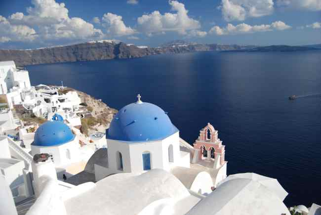 Oia Blue Domed Church