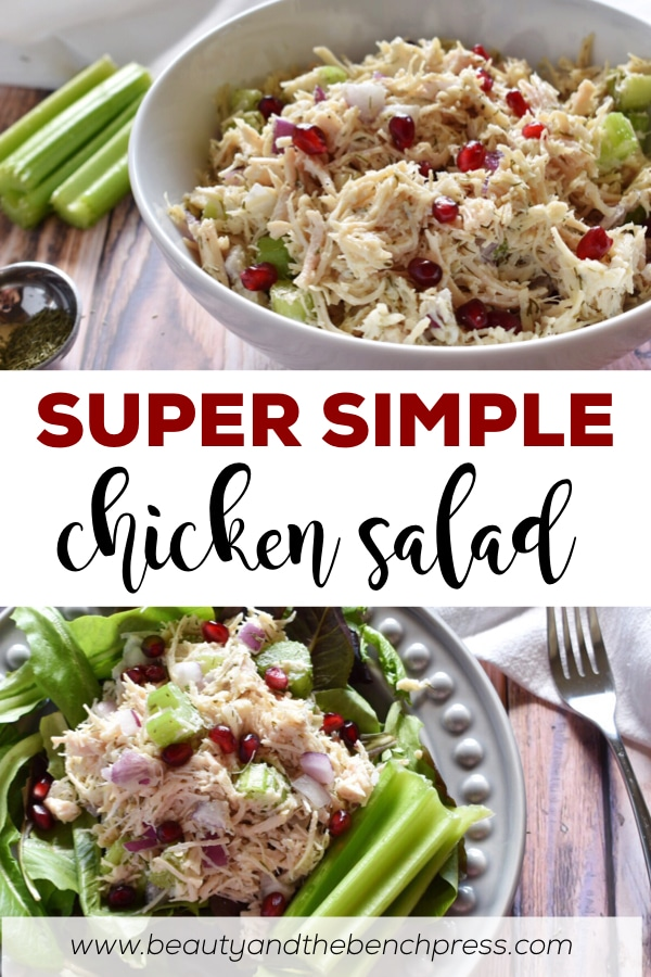 An easy healthy low carb chicken salad recipe. This recipe is dairy-free, paleo and Whole30 complaint. An easy meal to throw together any night of the week! #whole30recipes #lowcarbrecipes #paleorecipes