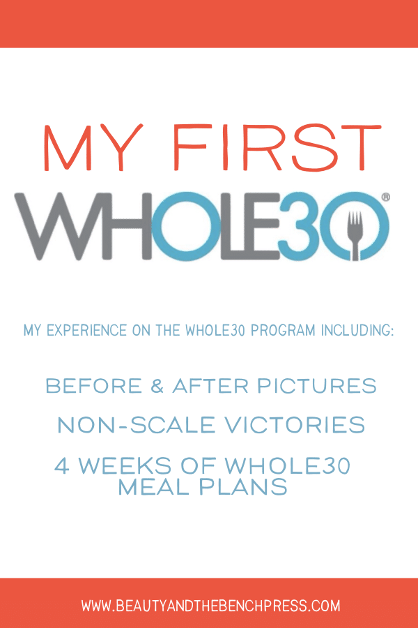 My complete experience on the Whole30 program. I share not only the weight loss and before and after pictures, but the non scale victories Whole30 brought me and realizations I made. I also share 4 weeks worth of Whole30 meal plans and what I ate during my month on the program #whole30 #results #nsv #weightloss