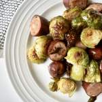 sausage & brussel sprouts sheet pan meal