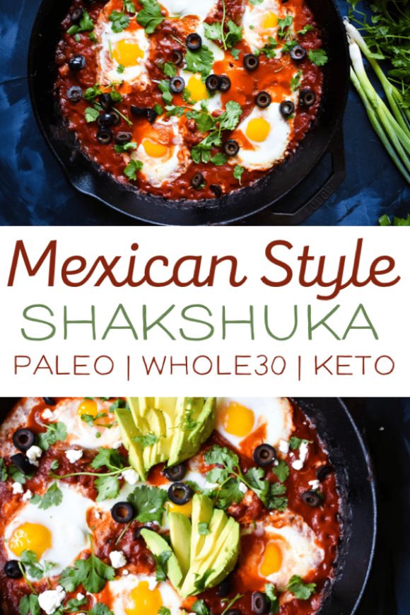 This spicy Mexican style shakshuka is the perfect meal! This easy and healthy recipe is low carb, paleo and Whole30 compliant! A perfect weekend breakfast or weeknight dinner! #keto #whole30recipes #paleo #whole30