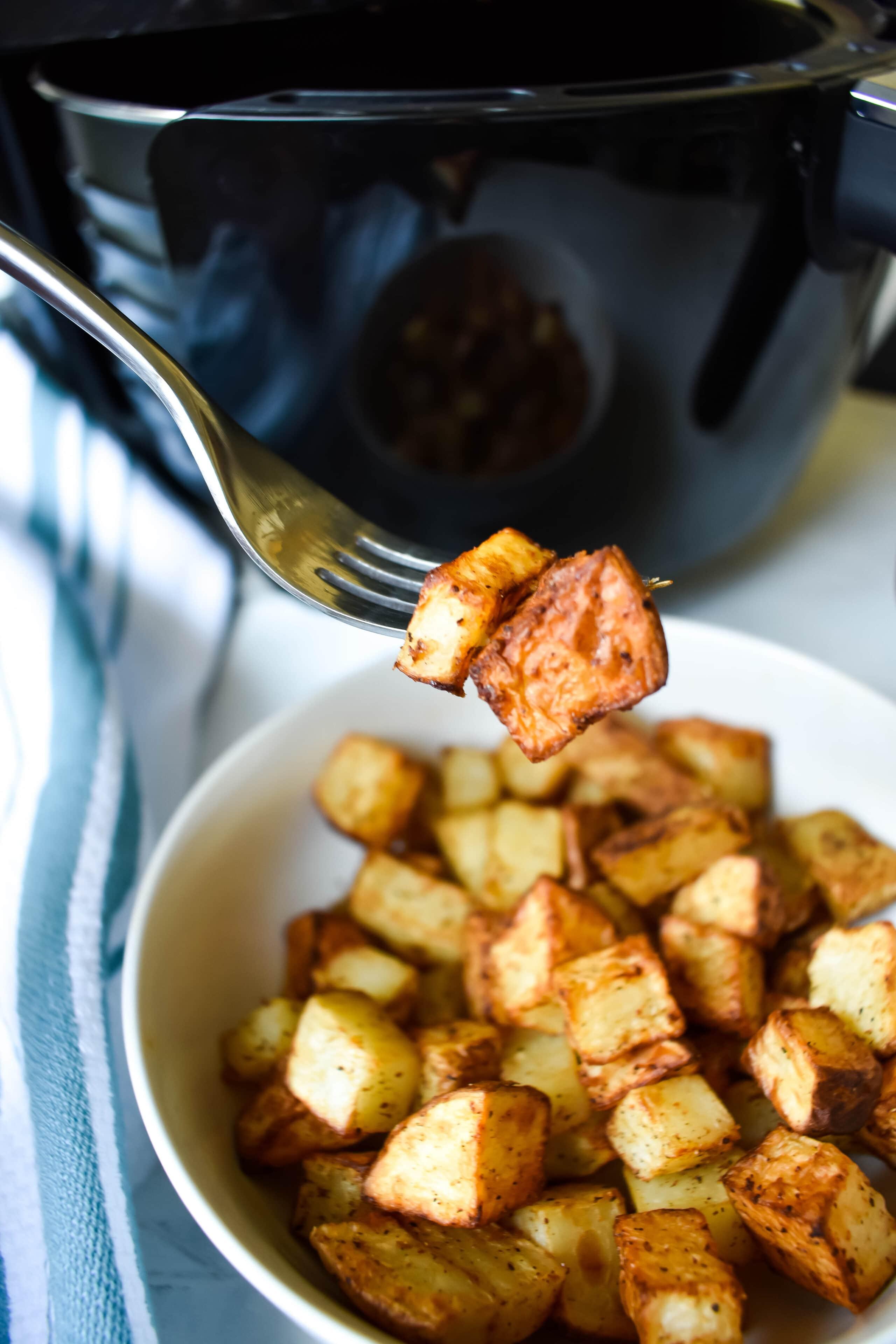 Crispy Air Fried Potatoes Healthy Whole30 Comfort Food