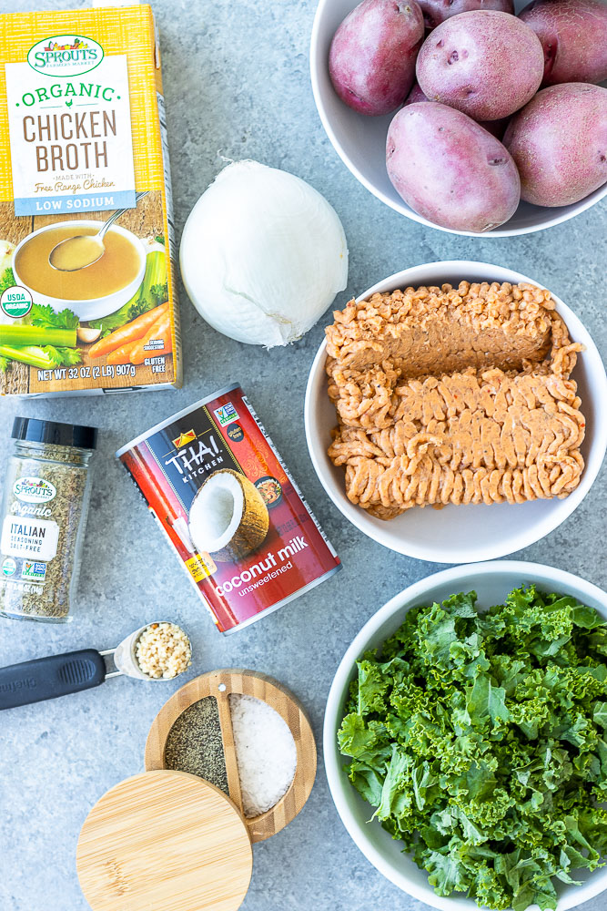 ingredients for zuppa toscana