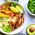 Chipotle Chicken Fajita Bowls (Whole30, Paleo, Keto, Easy Meal Prep)