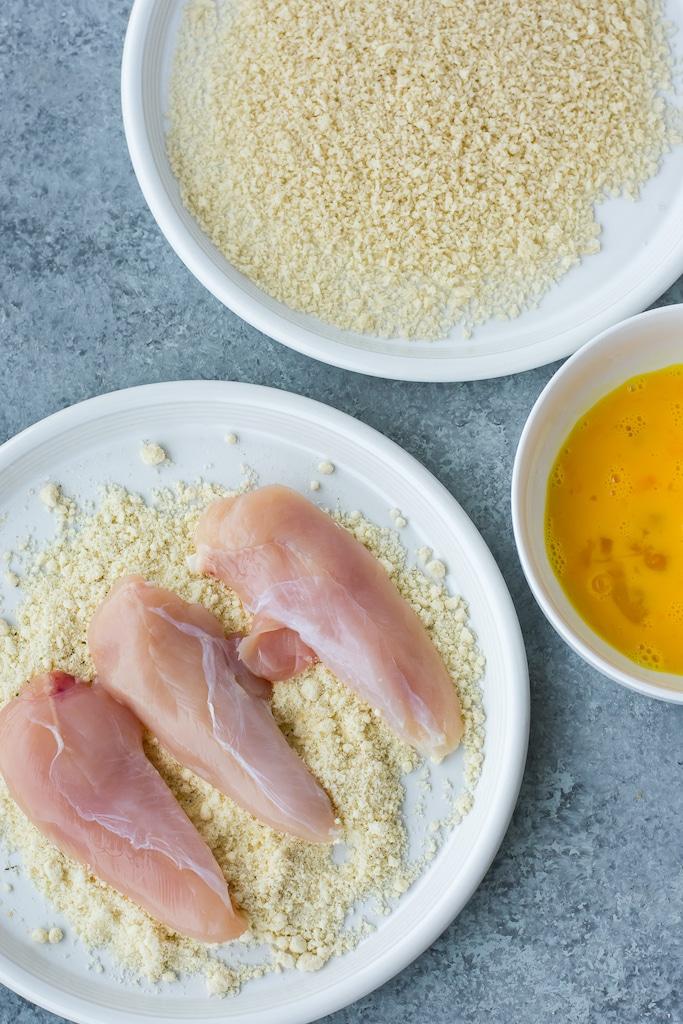 almond flour egg and panko