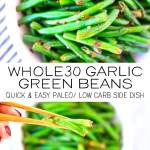 Garlic Green Bean Pinterest Image