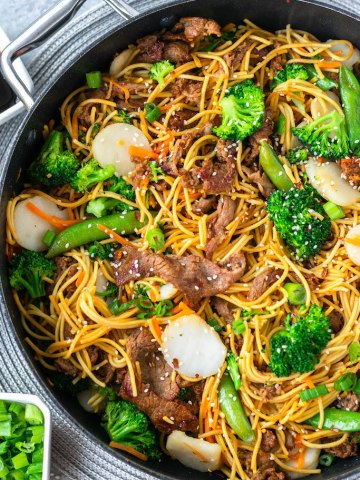 beef chow mein skillet