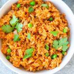 prepared instant pot Spanish rice