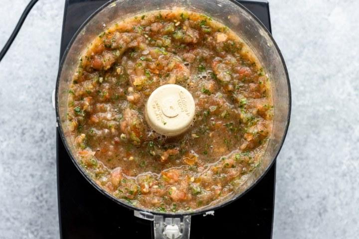 salsa fresca in the food processor