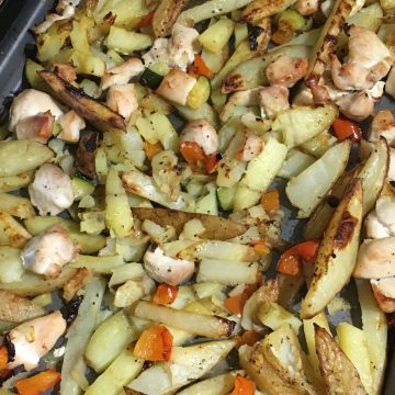 healthy chicken and potatoes
