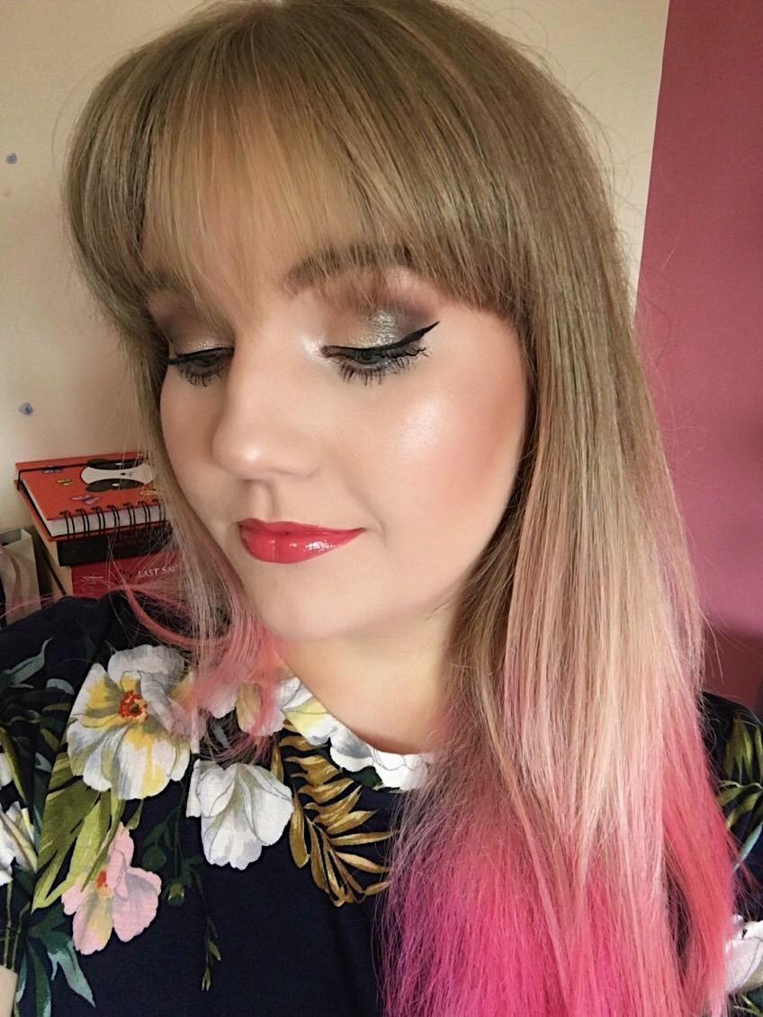 Pink and Golden Makeup