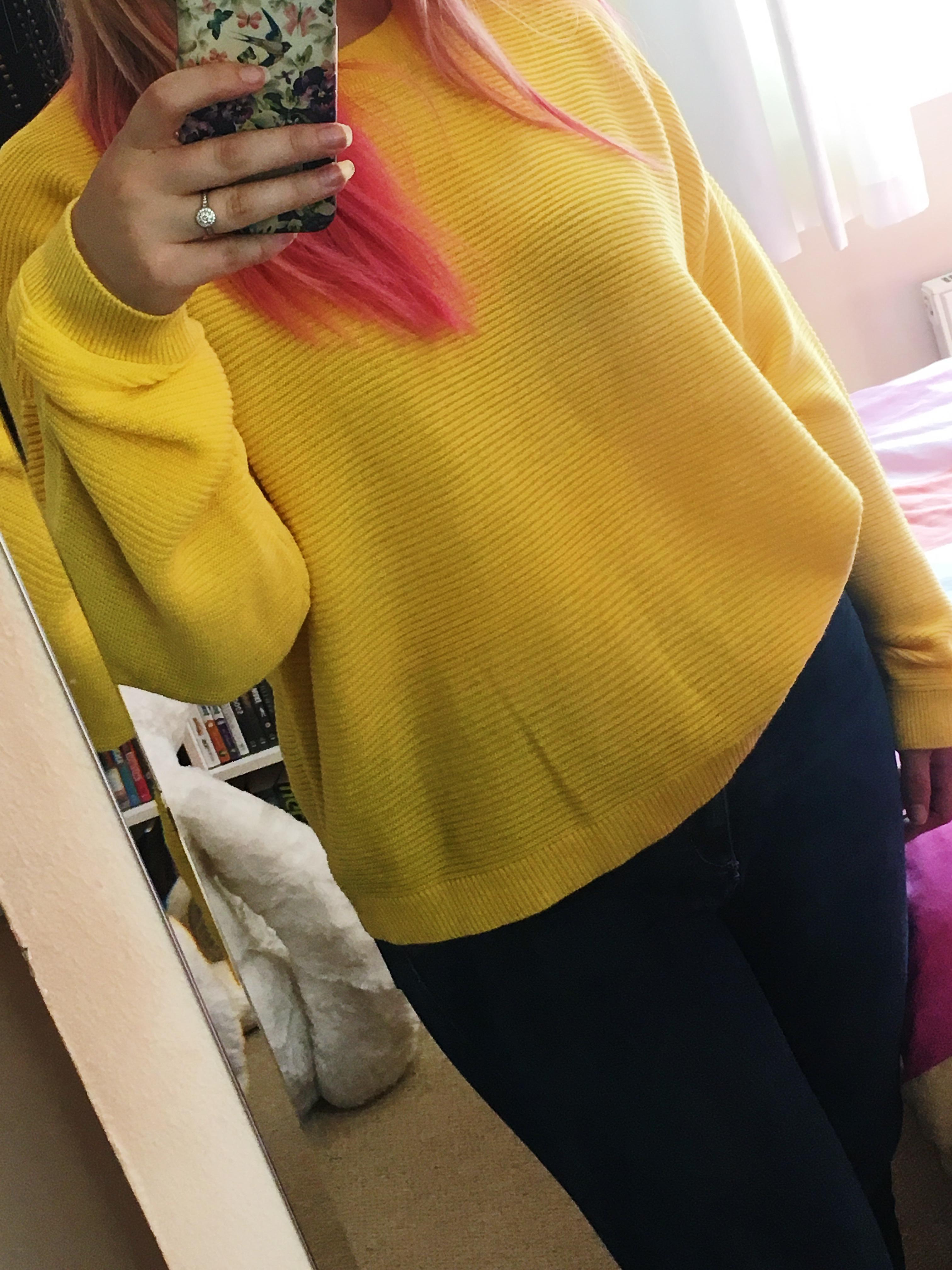 Asos yellow jumper