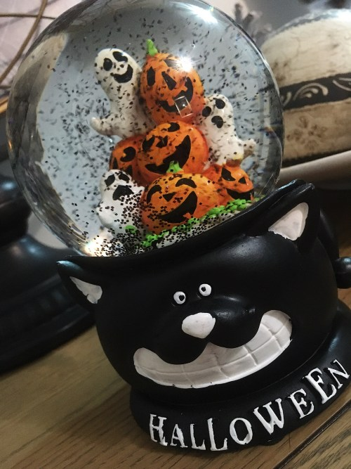 Black Ghost Snow Globe - TK Maxx