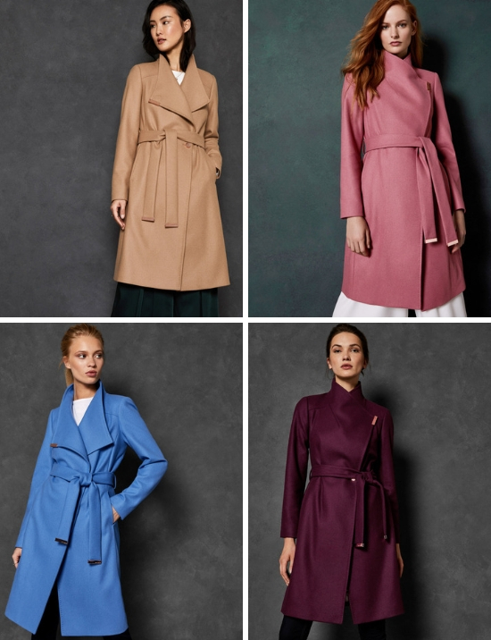 Sandra Midi Wool Wrap Coat
