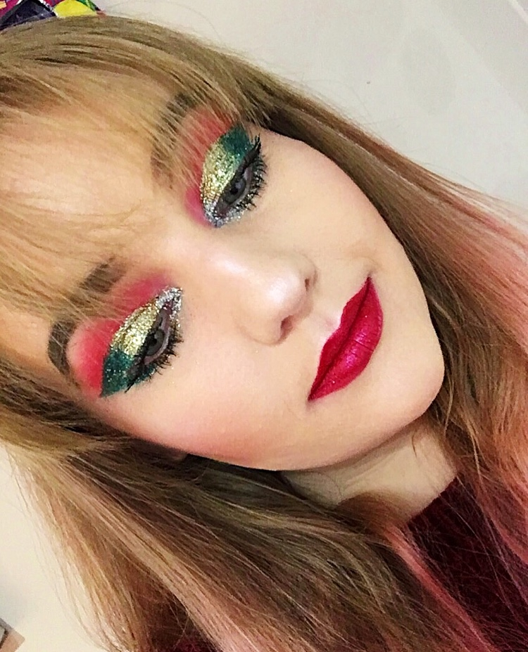 Glitter Glam Christmas Makeup