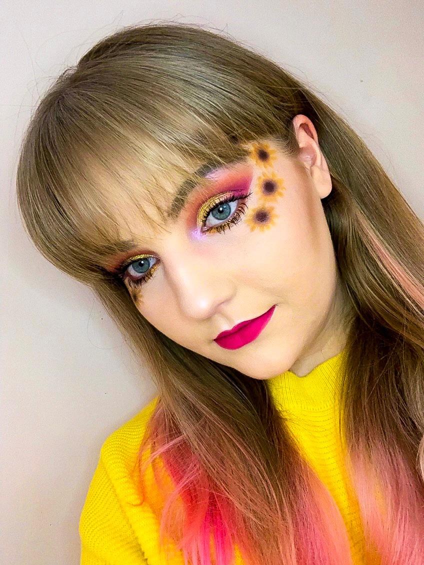 Spring sunflower makeup