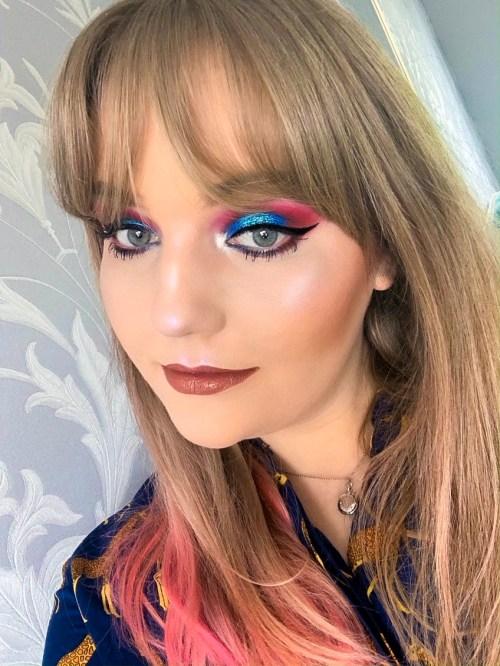 Electric Blue Makeup Look