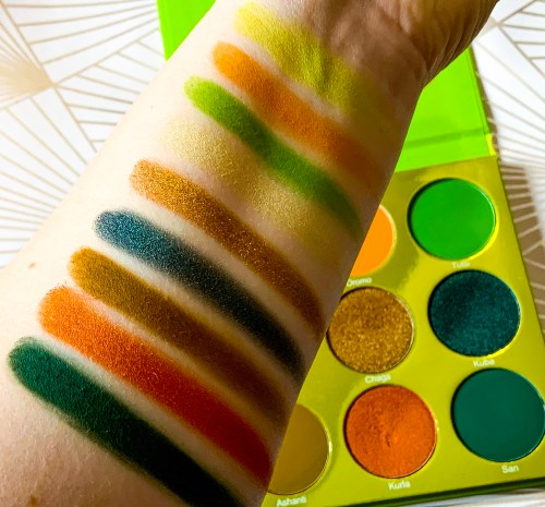 Juvia's Place The Tribe Palette Swatches