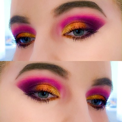 Summer Sunset makeup look