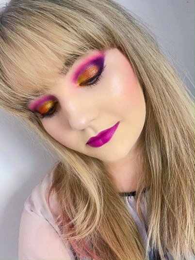 Summer sunset makeup