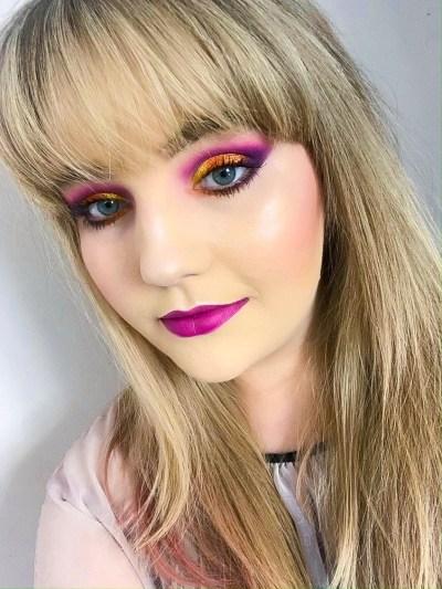 Summer sunset makeup