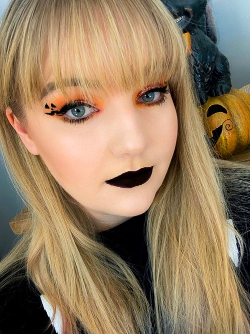 Cute Pumpkin Halloween Makeup