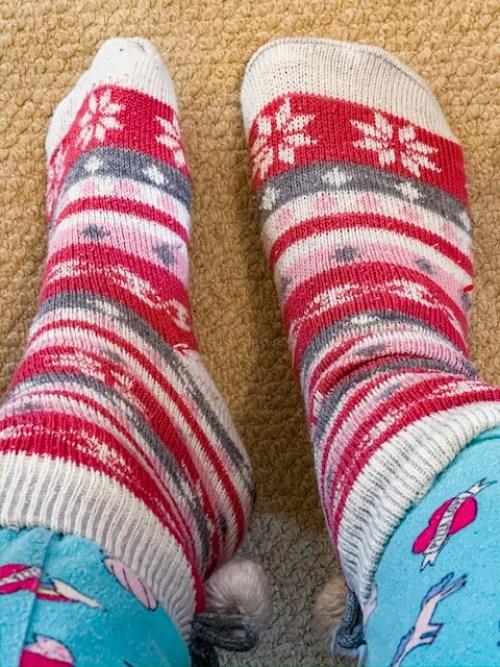 fluffy socks - cosy night in