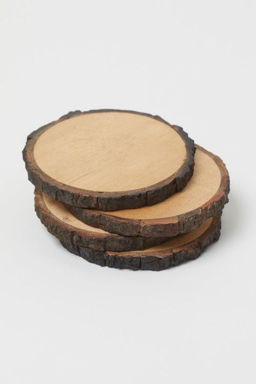 h&m wooden coasters