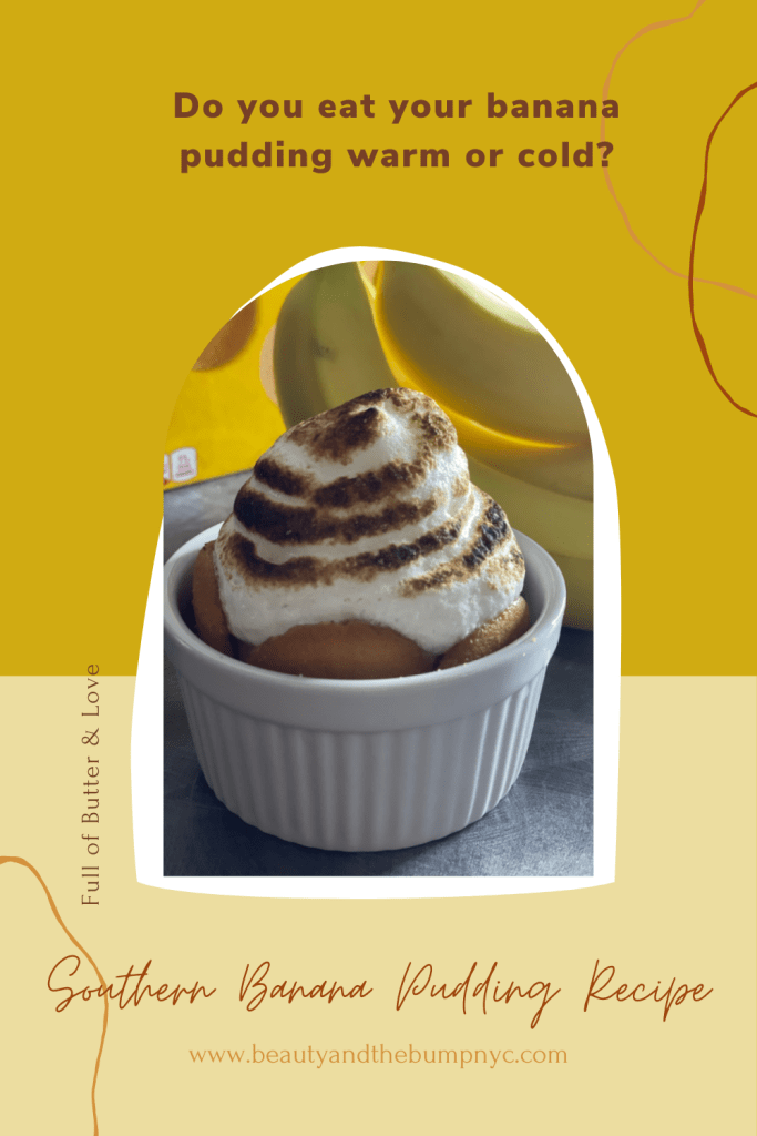My dad, who was born and raised in Dalzell and Sumter, South Carolina, made the best Southern banana pudding. It was his specialty. It had everything you would expect in a tasty banana pudding - homemade custard, Nilla wafers, homemade meringue, with lots of butter and love. It was truly the best!