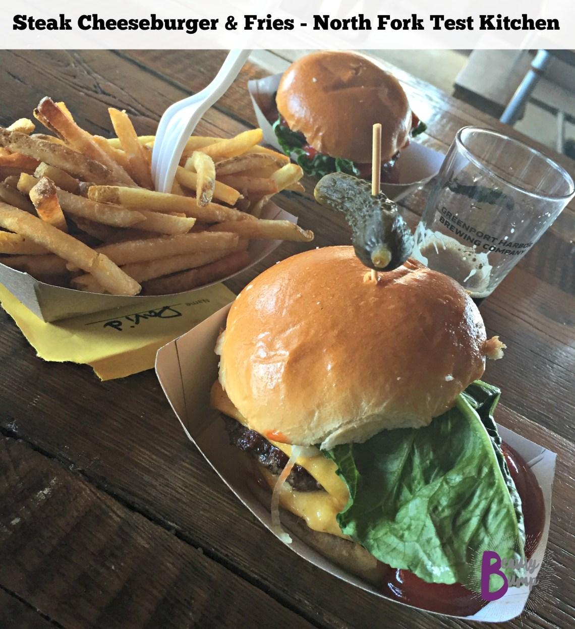 Steak Cheeseburger and Fries North Fork Test Kitchen