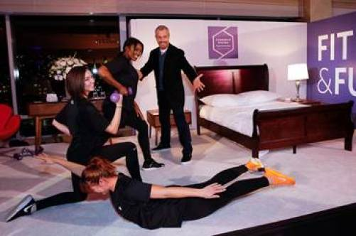"Personal trainer Gunnar Peterson debuts his hotel creation that he developed in partnership with Dominique Ansel dreamed up by business travelers as part of the Hyatt Regency ""It's Good Not To Be Home"" campaign. Photo Credit: Mansueto Ventures"