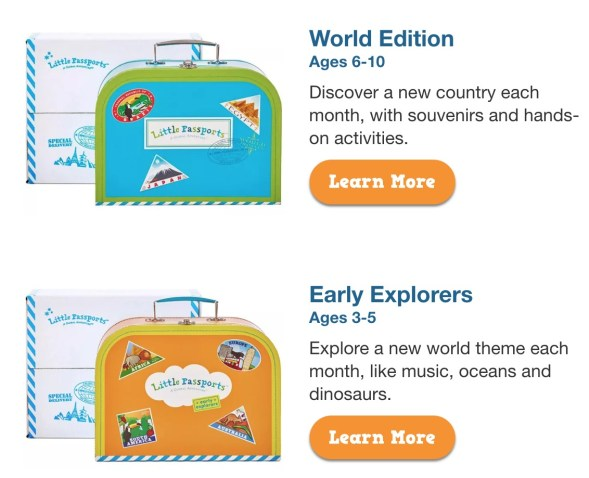 Little Travelers Little passports subscription