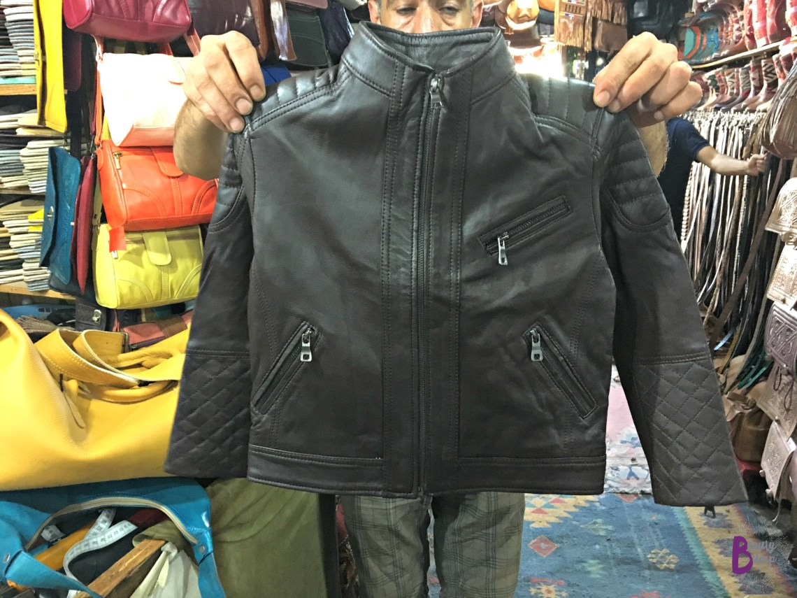 Moroccan Shopping Leather Jacket